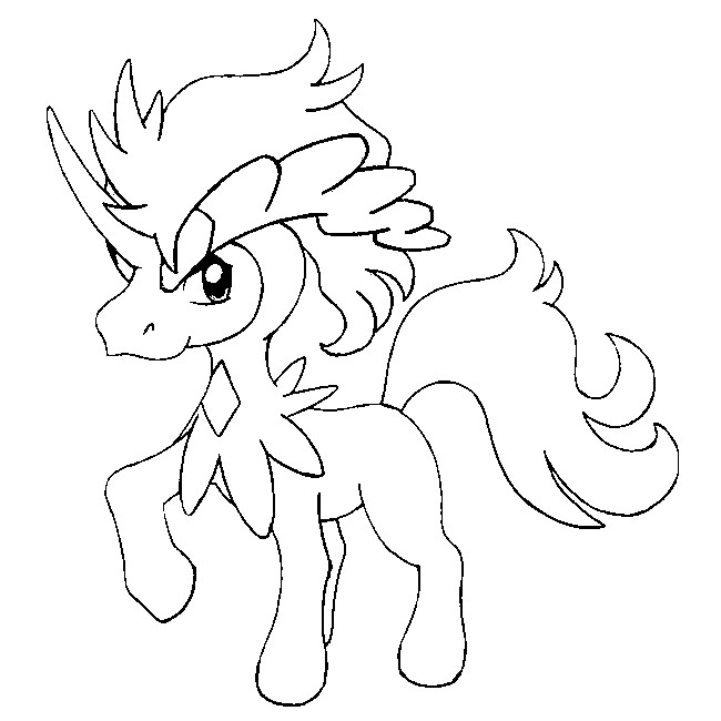 coloriage pokemon Keldeo