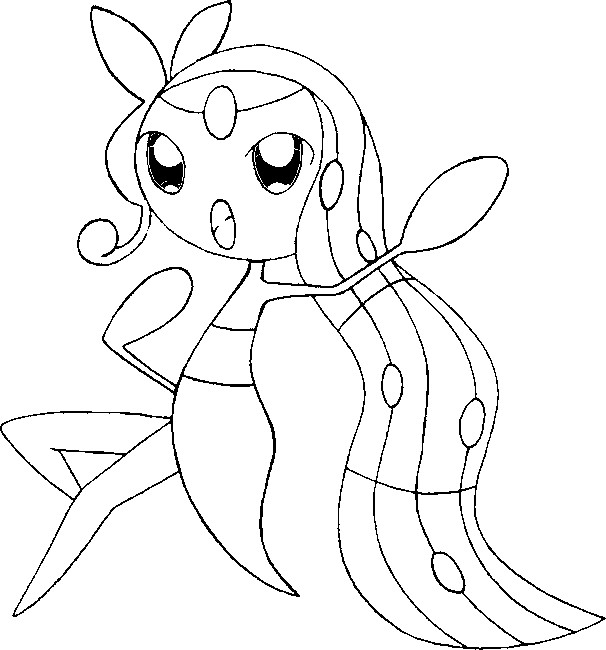 coloriage pokemon Meloetta