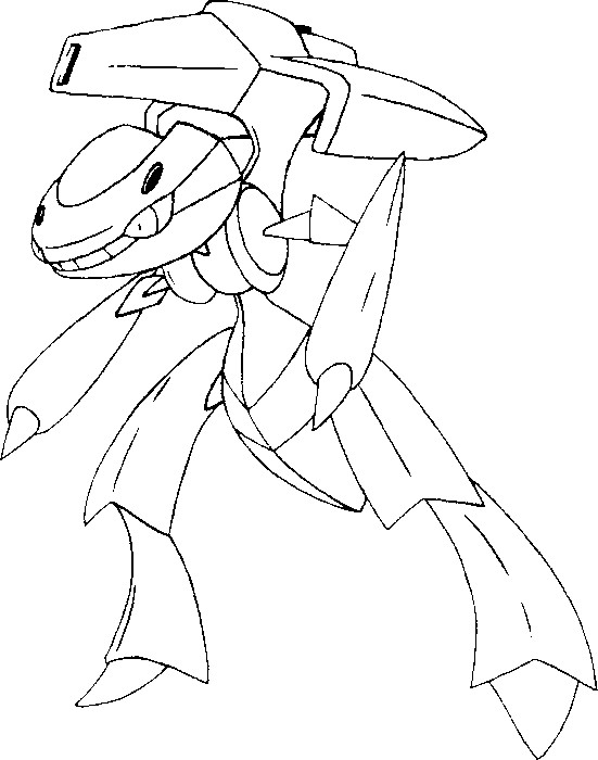 coloriage pokemon Genesect