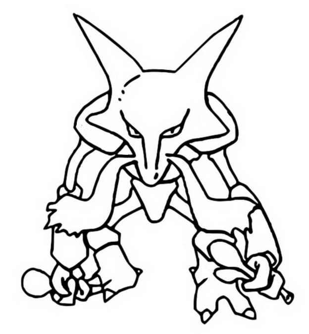 coloriage pokemon Alakazam
