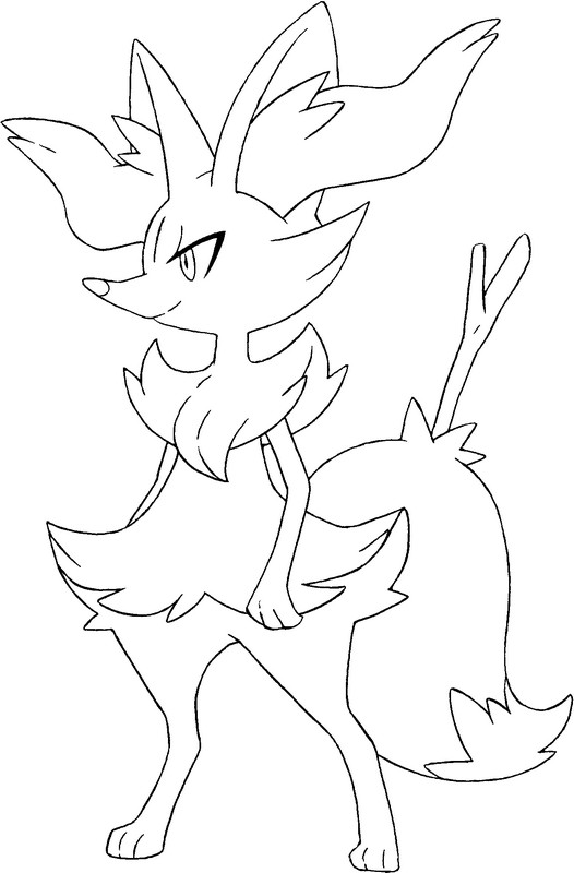 coloriage pokemon Roussil