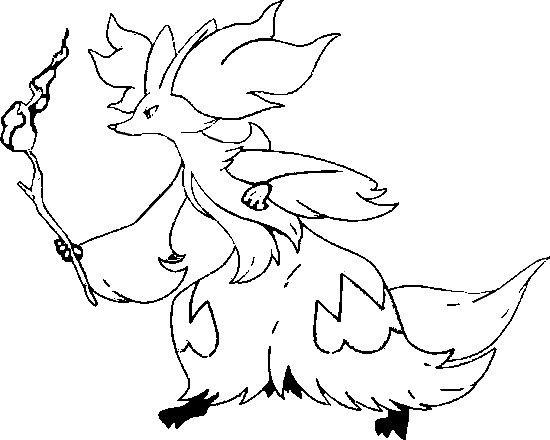 coloriage pokemon Goupelin