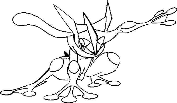 coloriage pokemon Amphinobi