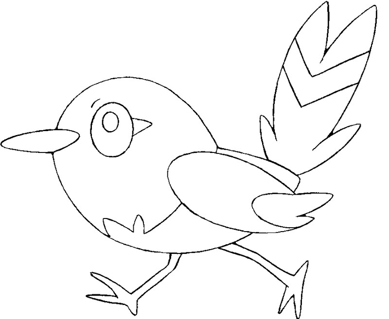 coloriage pokemon Passerouge
