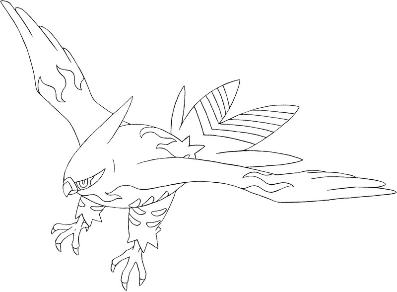 coloriage pokemon Flambusard