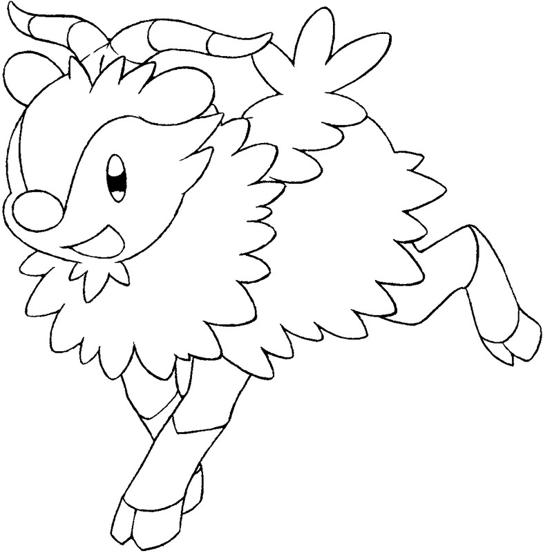coloriage pokemon Cabriolaine