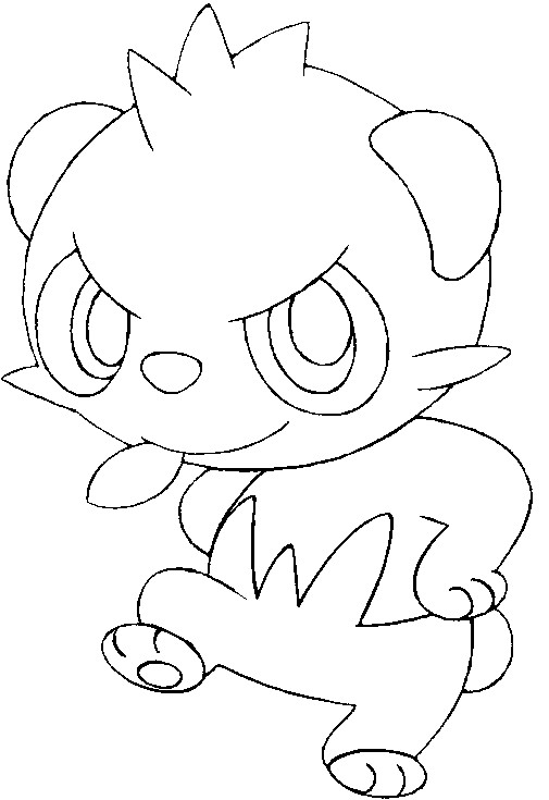 coloriage pokemon Pandespiègle