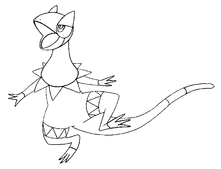 coloriage pokemon Iguolta