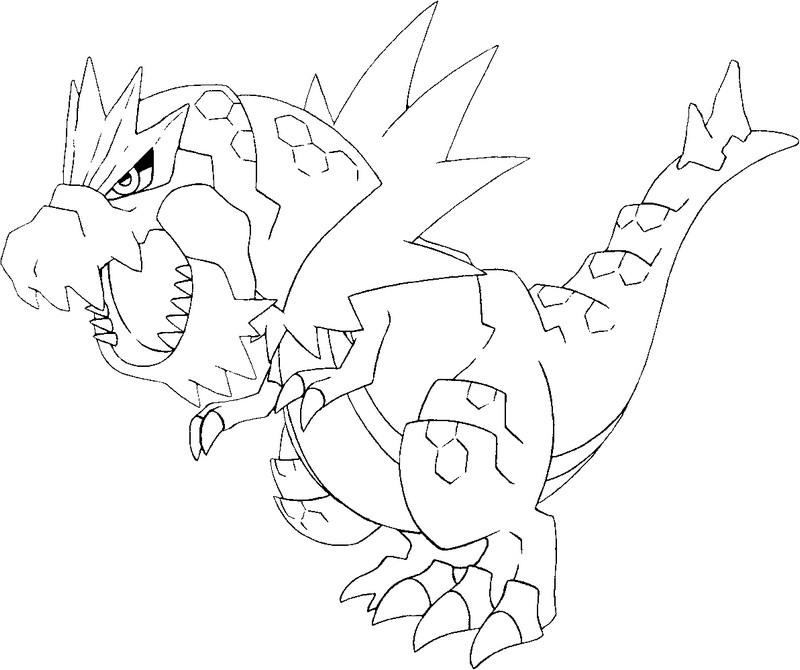 coloriage pokemon Rexillius