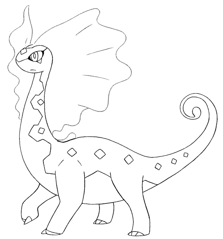 coloriage pokemon Dragmara