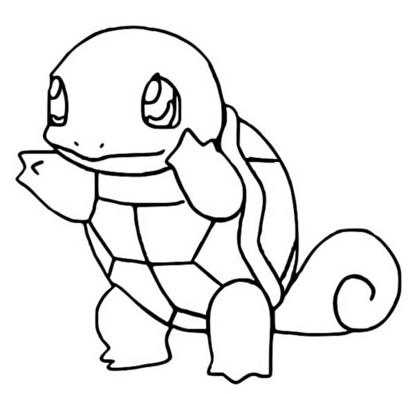 coloriage pokemon Carapuce