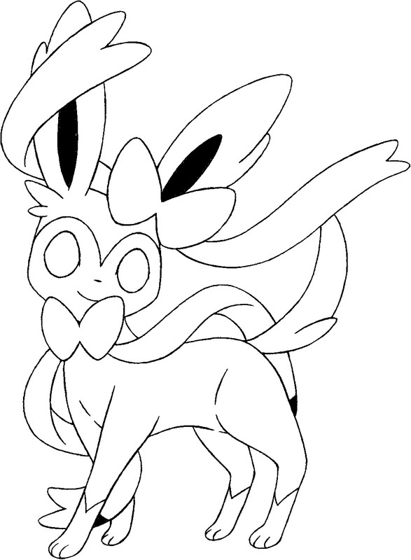 coloriage pokemon Nymphali