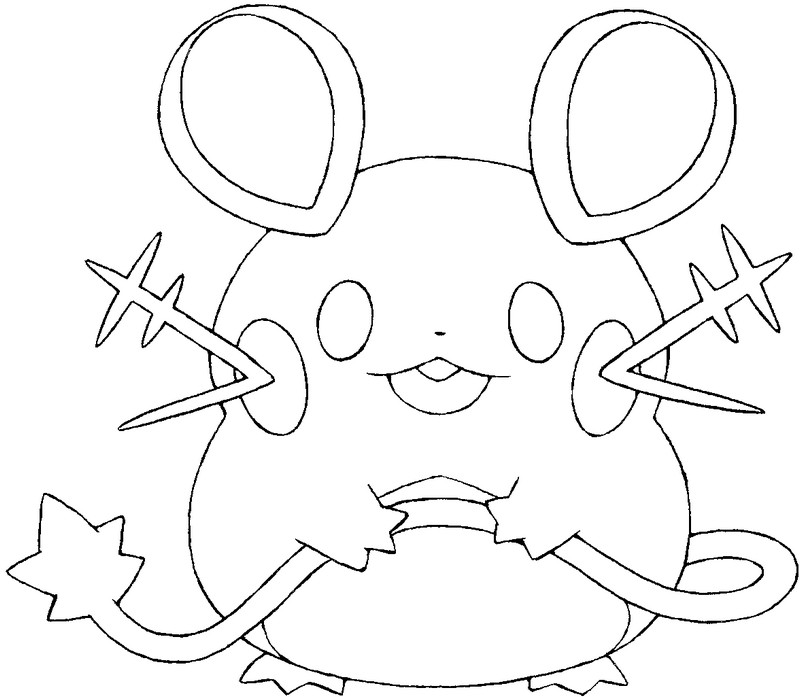 coloriage pokemon Dedenne