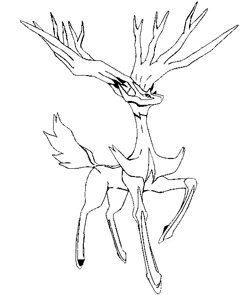 coloriage pokemon Xerneas