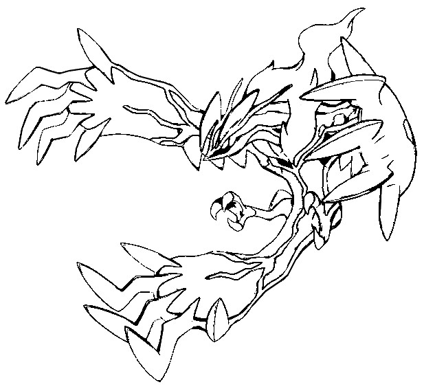 coloriage pokemon Yveltal