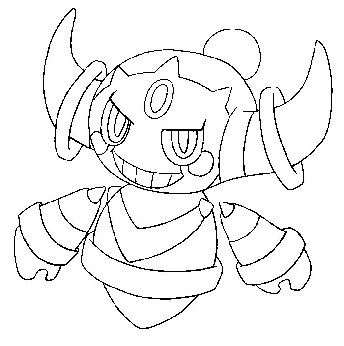 coloriage pokemon Hoopa