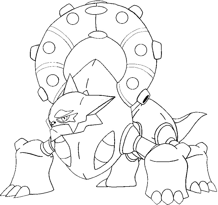 coloriage pokemon Volcanion