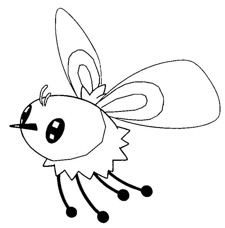 coloriage pokemon Bombydou