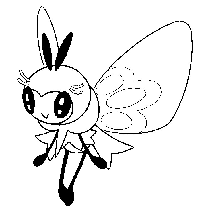 coloriage pokemon Rubombelle