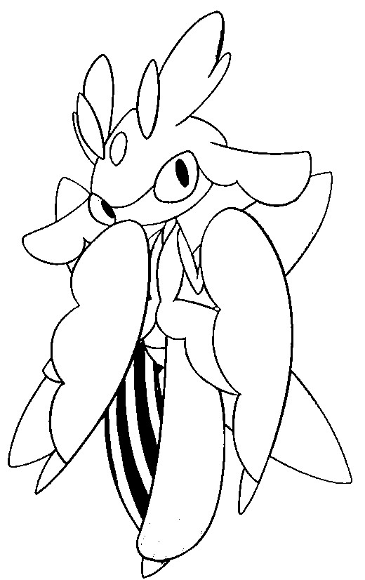 coloriage pokemon Floramantis