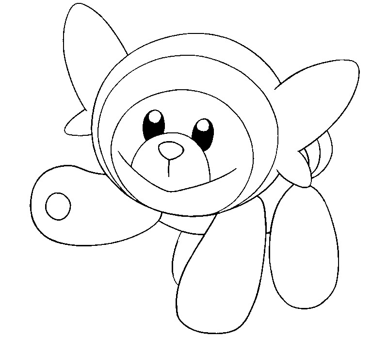 coloriage pokemon Nounourson