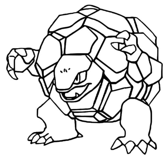 coloriage pokemon Grolem