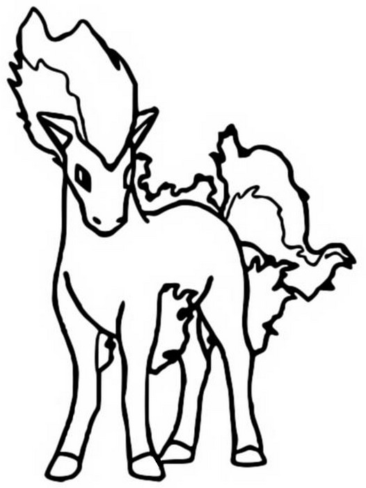 coloriage pokemon Ponyta