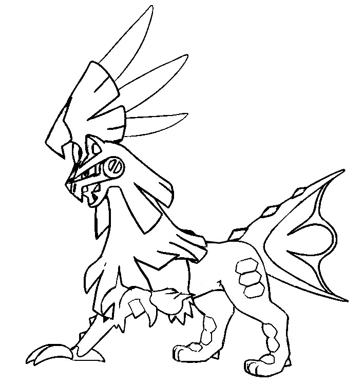 coloriage pokemon Silvallié