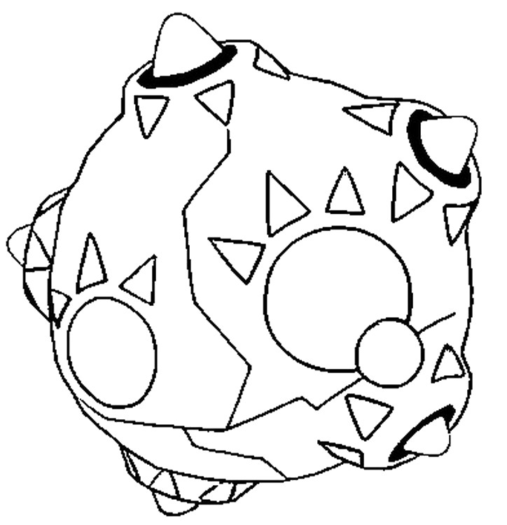 coloriage pokemon Météno