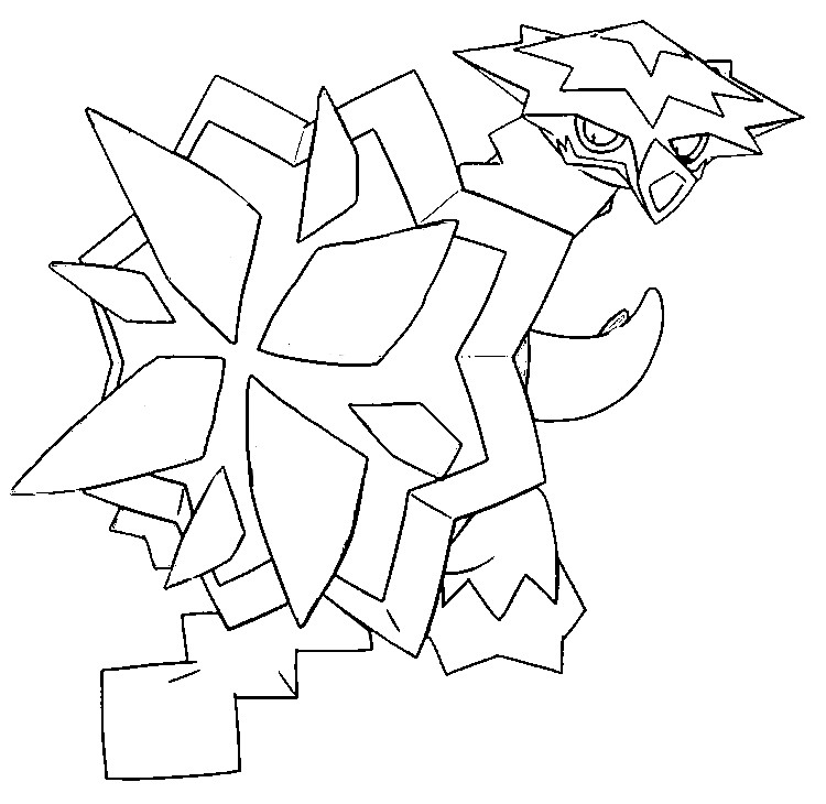 coloriage pokemon Boumata