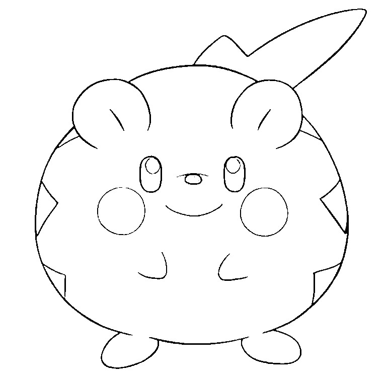 coloriage pokemon Togedemaru
