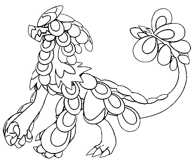coloriage pokemon Ékaïser
