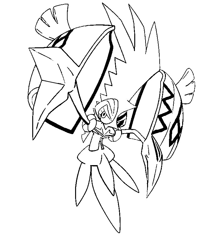 coloriage pokemon Tokorico
