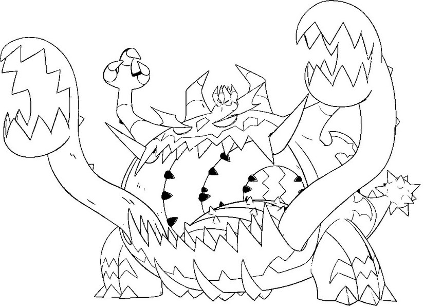 coloriage pokemon Engloutyran