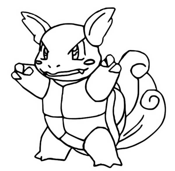 coloriage pokemon Carabaffe