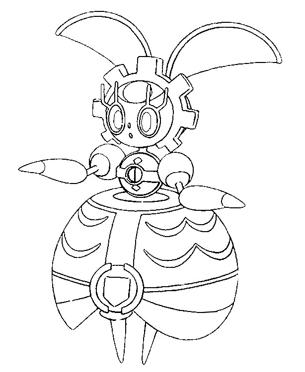 coloriage pokemon Magearna