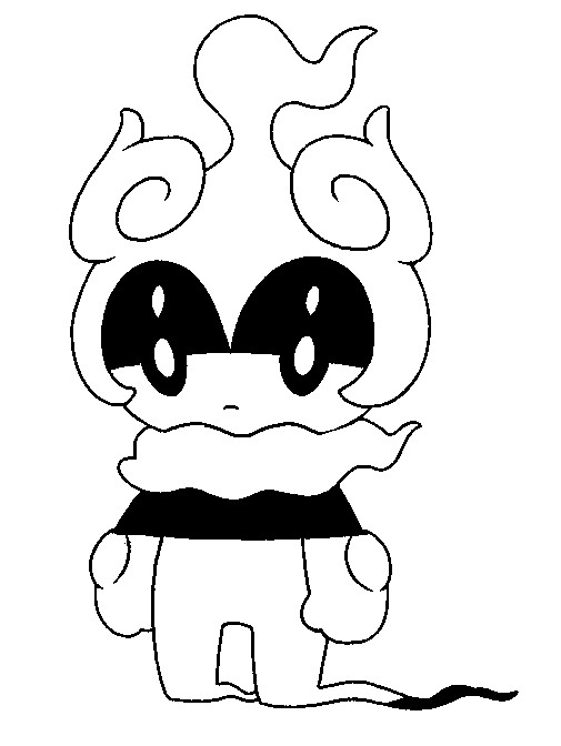 coloriage pokemon Marshadow