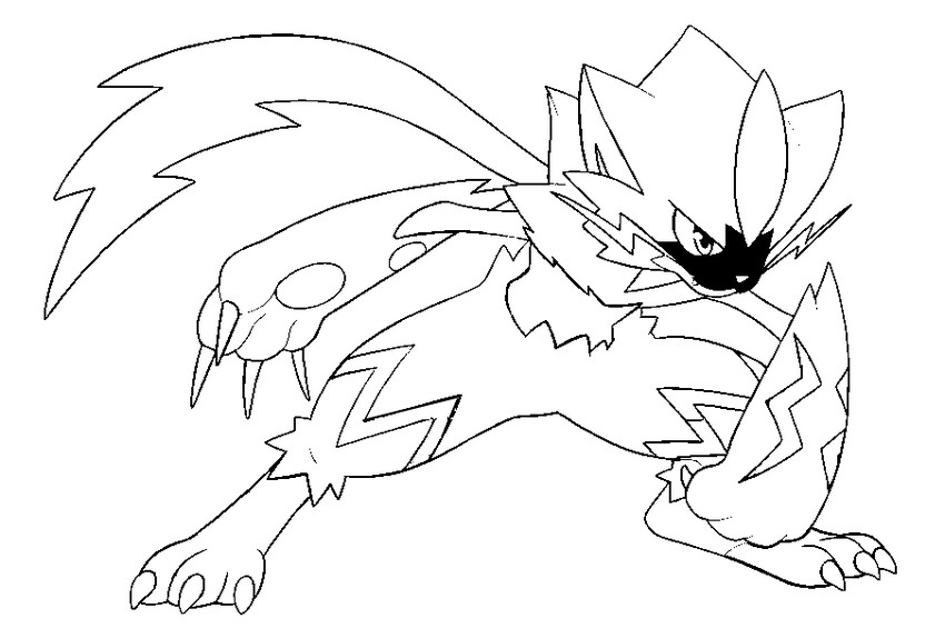 coloriage pokemon Zeraora