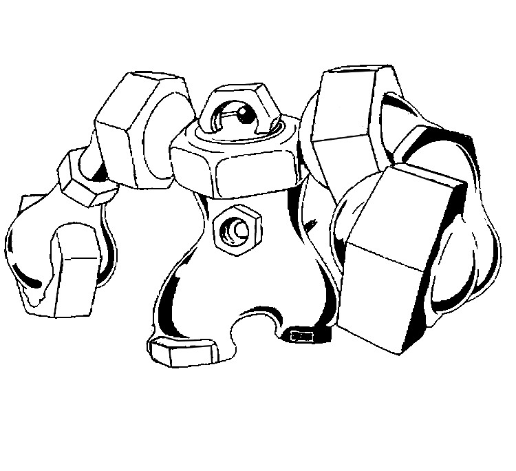 coloriage pokemon Melmetal