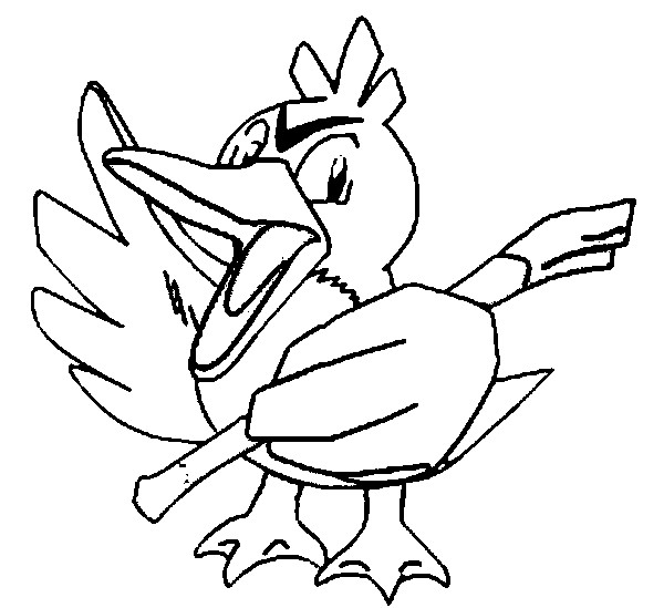 coloriage pokemon Canarticho