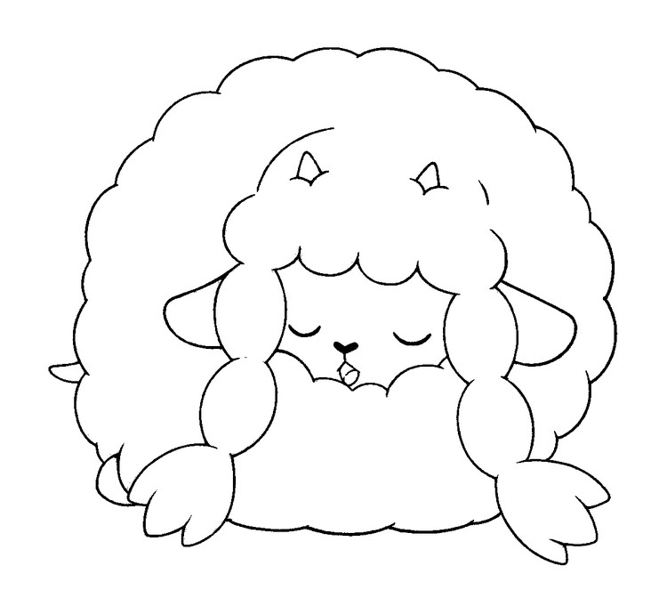 coloriage pokemon Moumouton