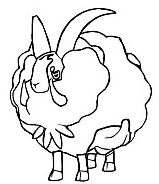 coloriage pokemon Moumouflon