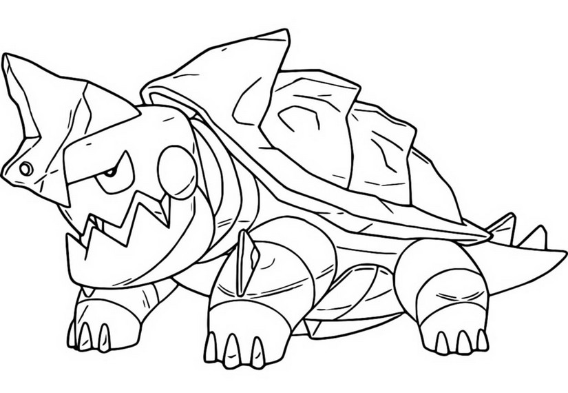 coloriage pokemon Torgamord