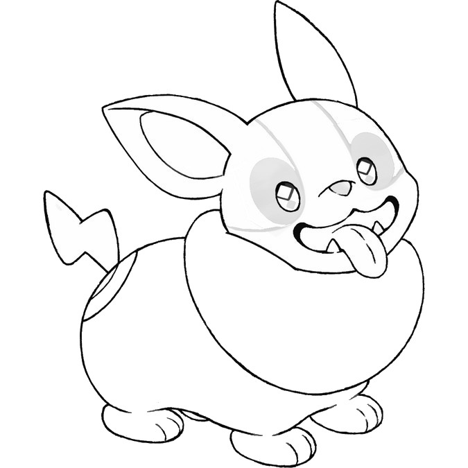 coloriage pokemon Voltoutou