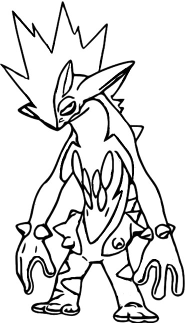 coloriage pokemon Salarsen