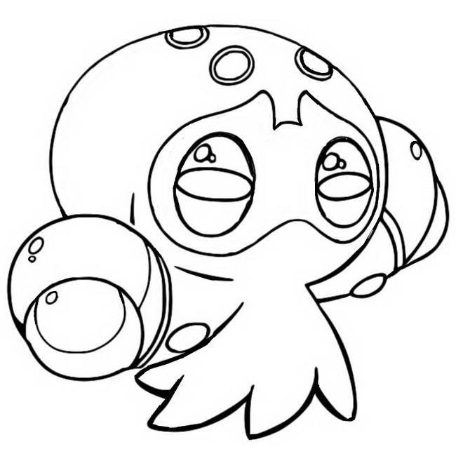 coloriage pokemon Poulpaf