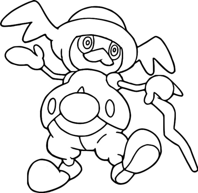 coloriage pokemon M. Glaquette