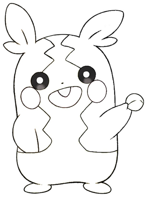 coloriage pokemon Morpeko