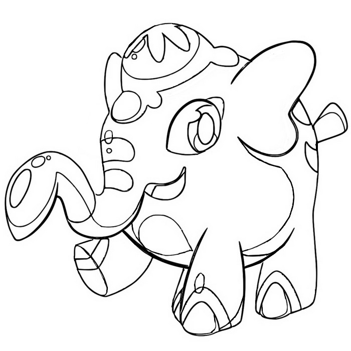coloriage pokemon Charibari