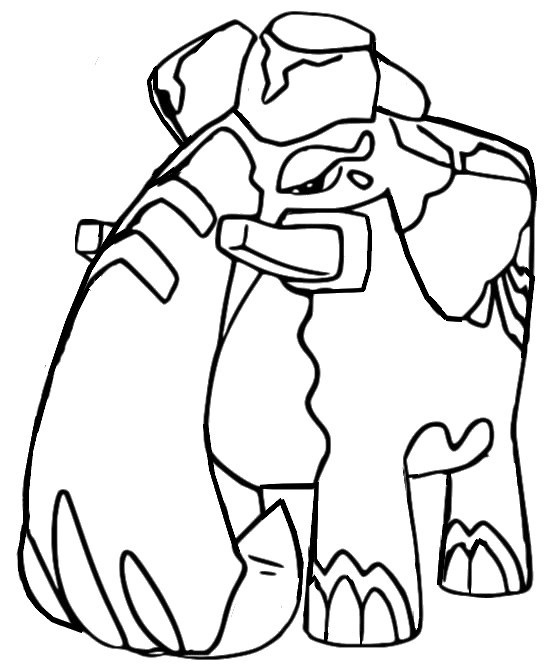 coloriage pokemon Pachyradjah